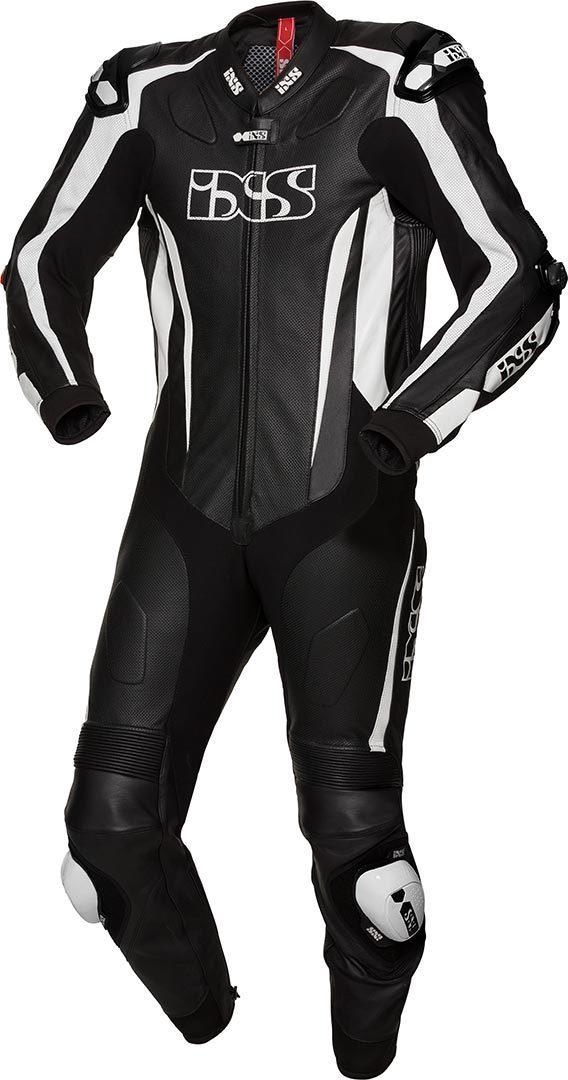 IXS X-Sport RS-1000 1-Teiler Motorrad Lederkombi, schwarz-weiss, Größe 56, schwarz-weiss, Größe 56