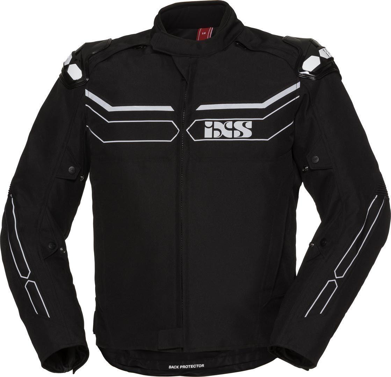 IXS X-Sport RS1000-ST wasserdichte Motorrad Textiljacke, schwarz-grau, Größe M, schwarz-grau, Größe M