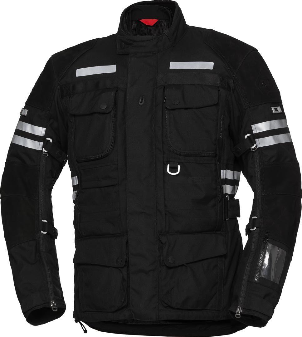 IXS X-Tour LT Montevideo-ST wasserdichte Motorrad Textiljacke, schwarz, Größe L, schwarz, Größe L