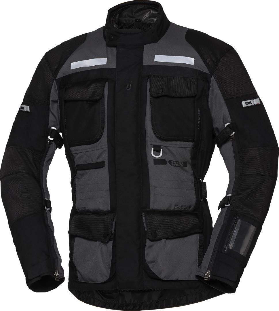 IXS X-Tour Montevideo-ST Motorrad Textiljacke, schwarz-grau, Größe 2XL, schwarz-grau, Größe 2XL