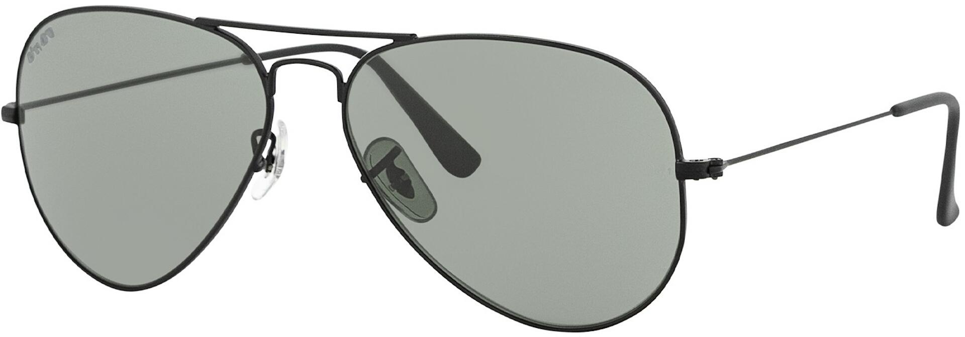John Doe Aviator Sonnenbrille, schwarz, schwarz