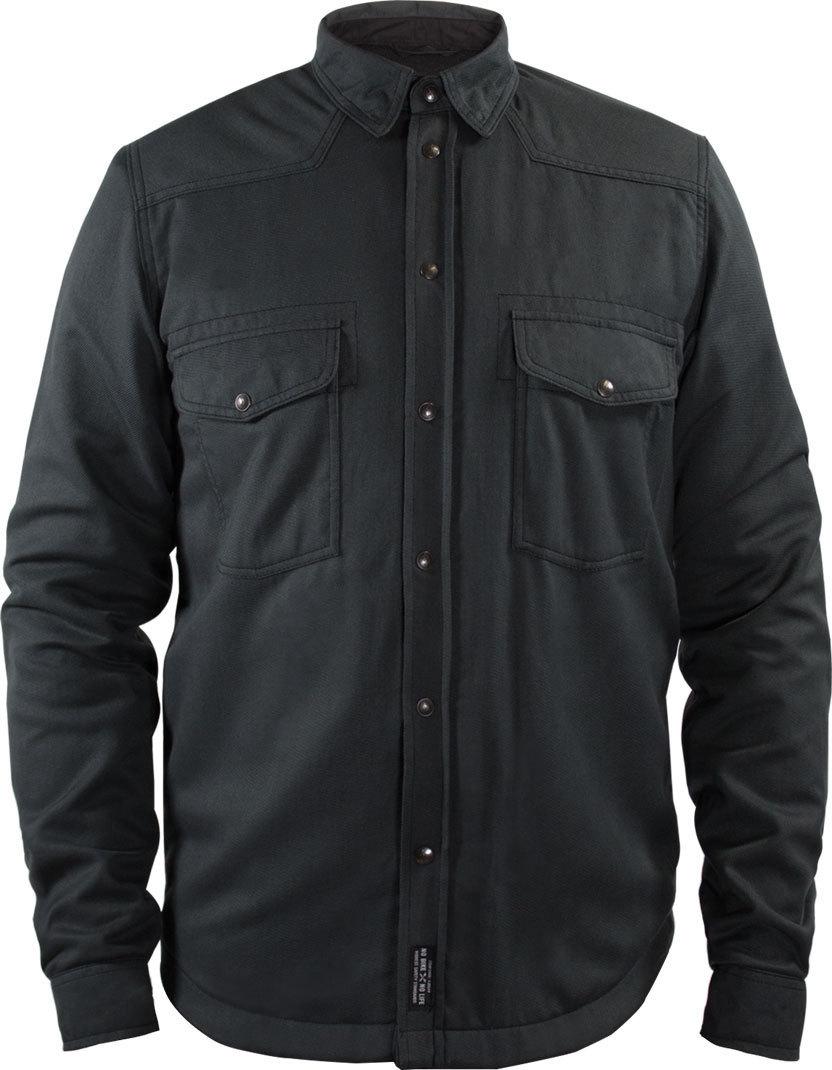John Doe Lumberjack Basic Motorrad Hemd, schwarz-grau, Größe XS, schwarz-grau, Größe XS
