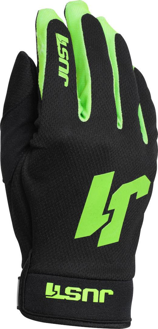 Just1 J-Flex Motocross Handschuhe, schwarz-grün, Größe XS, schwarz-grün, Größe XS