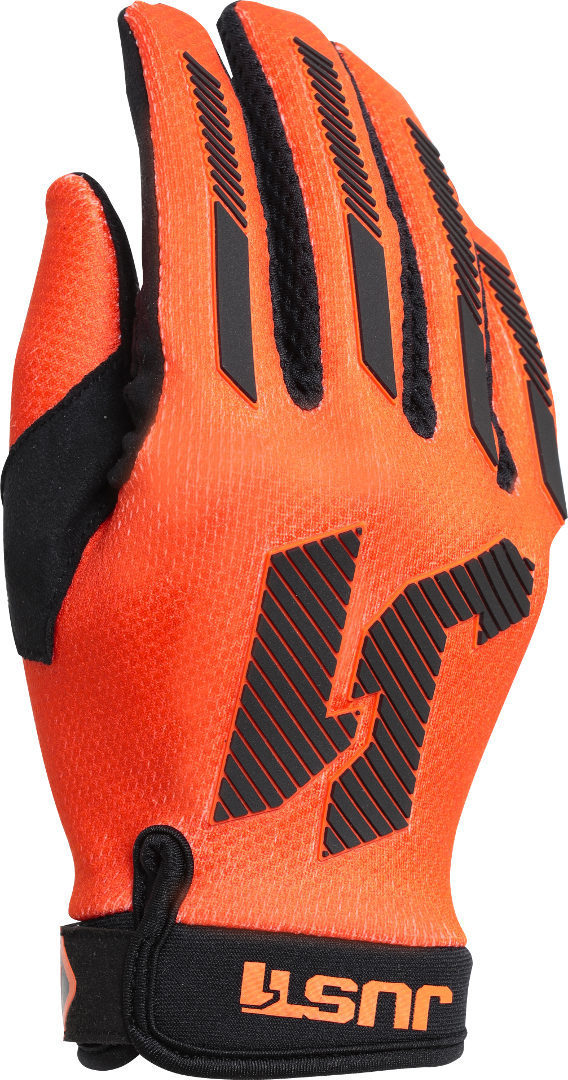 Just1 J-Force X Motocross Handschuhe, schwarz-orange, Größe S, schwarz-orange, Größe S