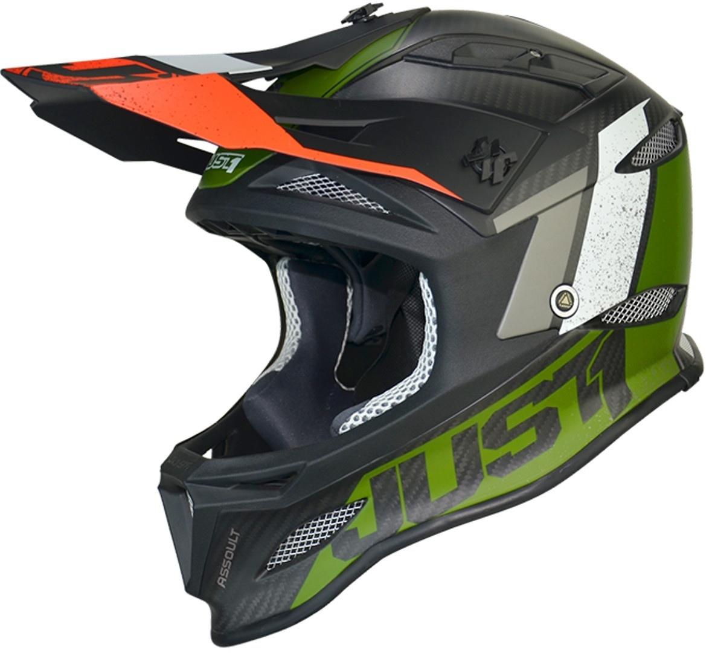 Just1 JDH Assault Mips Downhill Helm, schwarz-grün, Größe S, schwarz-grün, Größe S