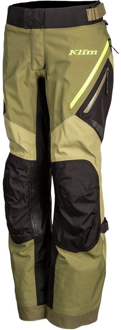 Klim Artemis Damen Motorrad Textilhose, grün-gelb, Größe XL 36, grün-gelb, Größe XL 36