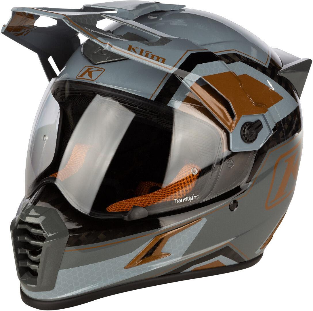 Klim Krios Pro Rally Carbon Motocross Helm, braun, Größe L, braun, Größe L