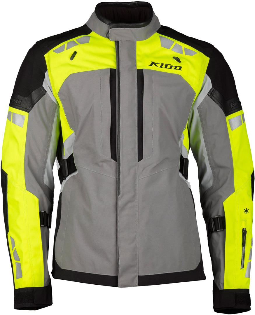 Klim Latitude Motorrad Textiljacke, grau-gelb, Größe 54, grau-gelb, Größe 54