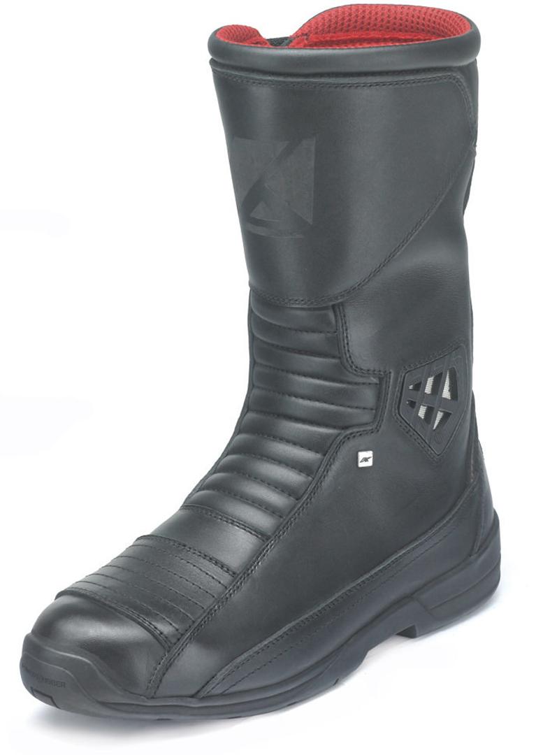 Kochmann Voyager wasserdichte Motorradstiefel, schwarz, Größe 43 für Männer, schwarz, Größe 43