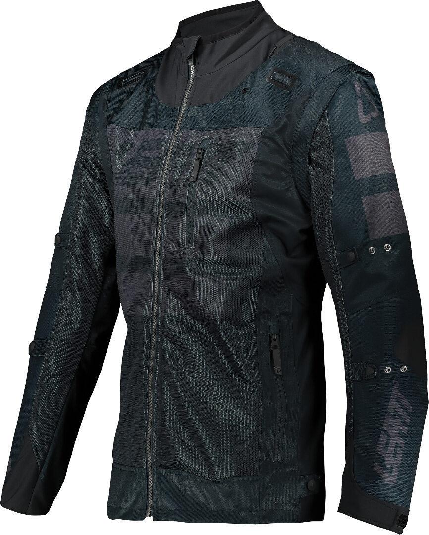 Leatt Moto 4.5 X-Flow Motocross Jacke, schwarz, Größe S, schwarz, Größe S