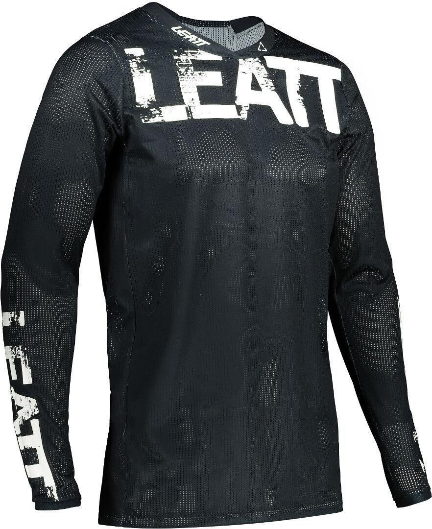 Leatt Moto 4.5 X-Flow Motocross Jersey, schwarz, Größe M, schwarz, Größe M