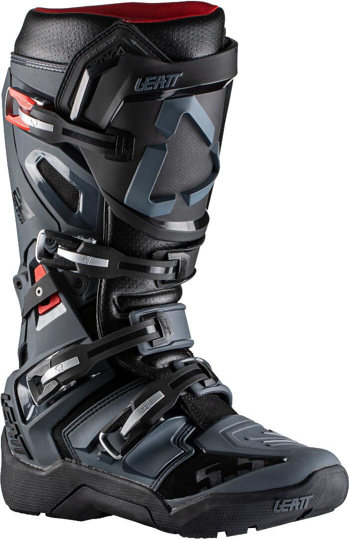 Leatt Moto 5.5 Flexlock Enduro Motocross Stiefel, schwarz-grau, Größe 42, schwarz-grau, Größe 42