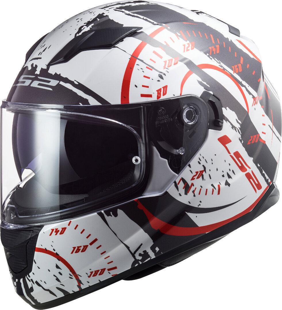LS2 FF320 Stream Evo Tacho Helm, schwarz-weiss-rot, Größe 2XL, schwarz-weiss-rot, Größe 2XL