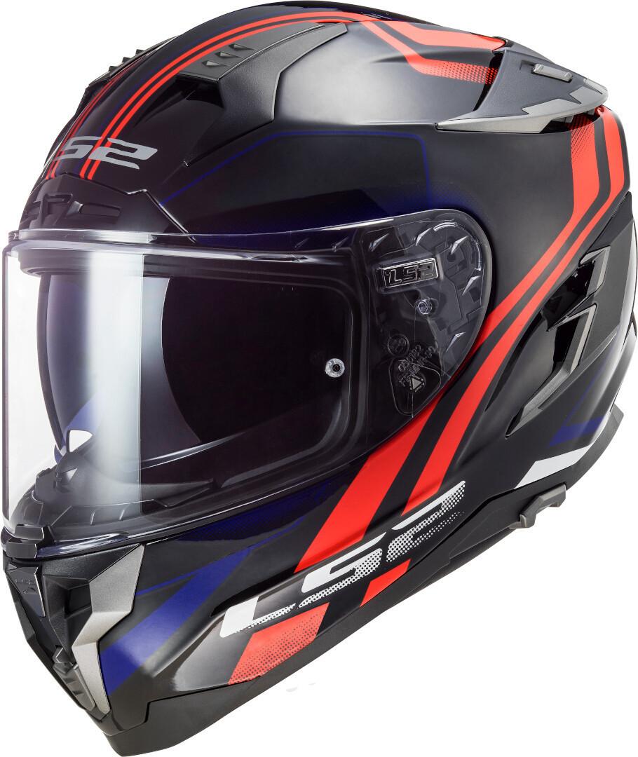 LS2 FF327 Challenger Propeller Helm, schwarz-rot-blau, Größe M, schwarz-rot-blau, Größe M