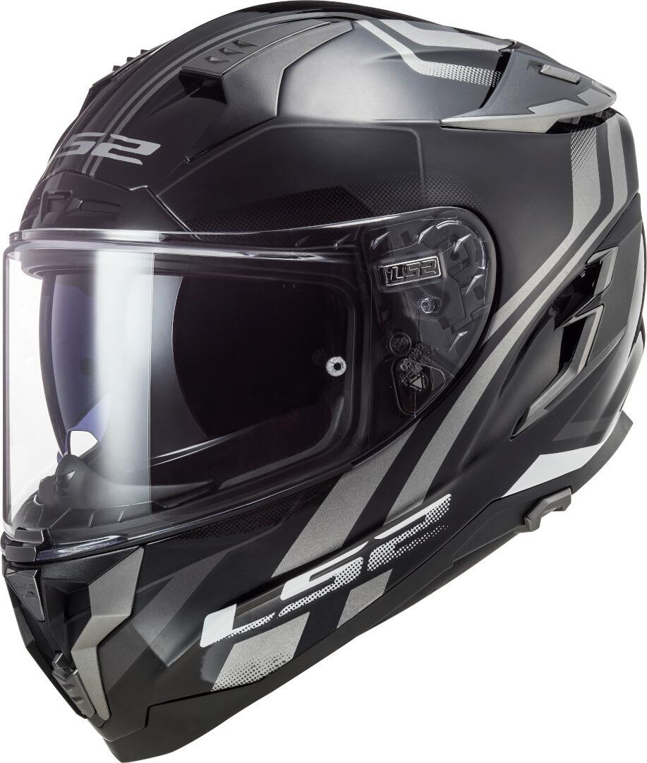 LS2 FF327 Challenger Propeller Helm, schwarz-silber, Größe XS, schwarz-silber, Größe XS