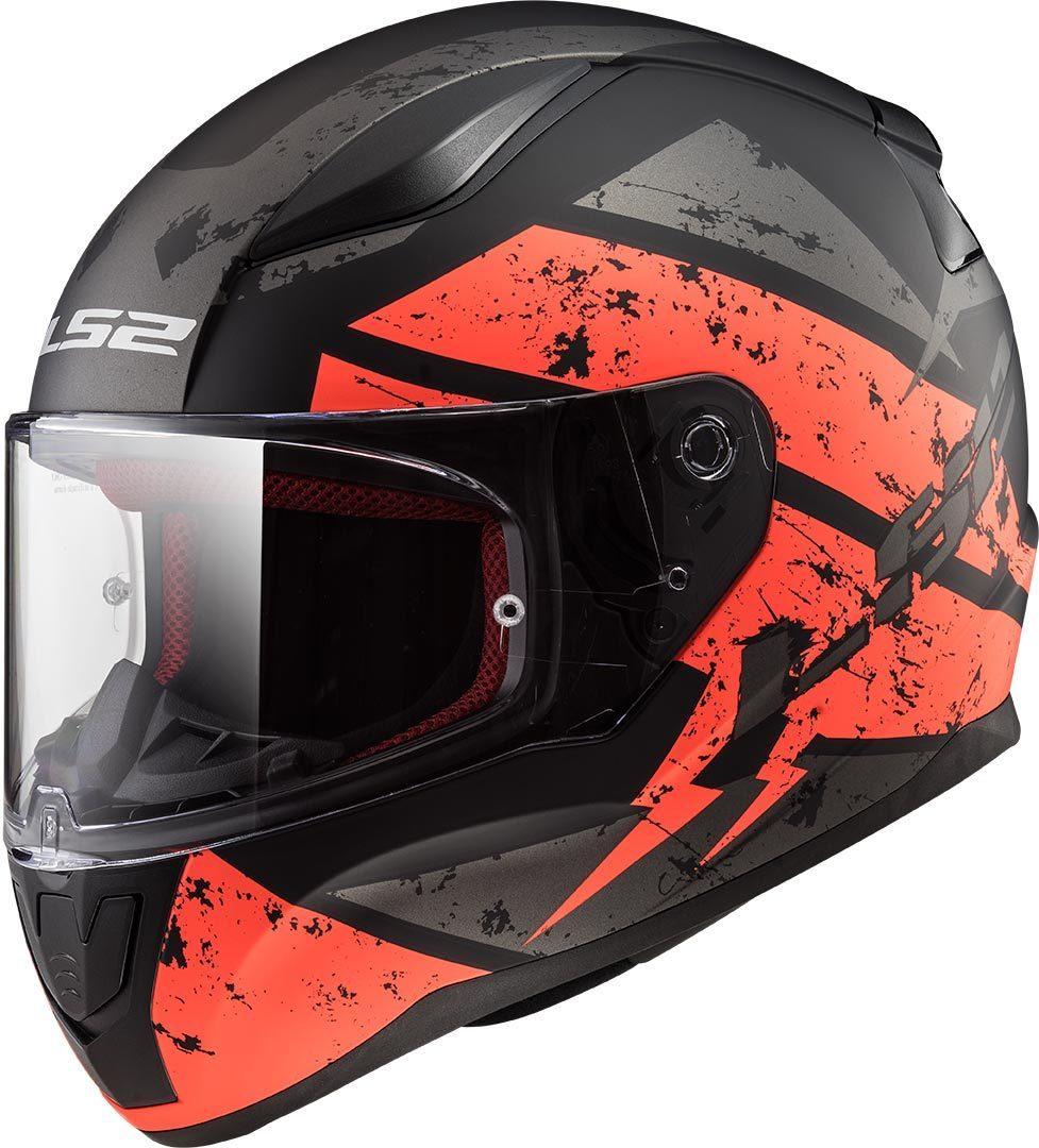 LS2 FF353 Rapid Deadbolt Helm, schwarz-orange, Größe 2XL, schwarz-orange, Größe 2XL