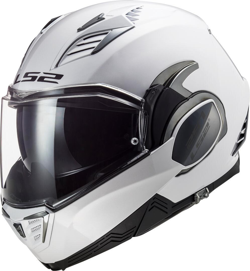 LS2 FF900 Valiant II Solid Helm, weiss, Größe L, weiss, Größe L