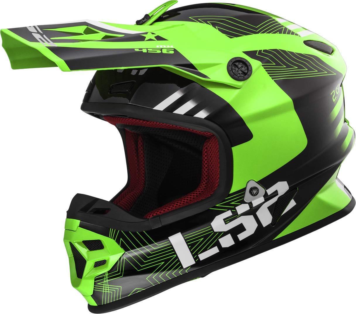 LS2 MX456 Light Evo Rallie Motocross Helm, grün, Größe XL, grün, Größe XL