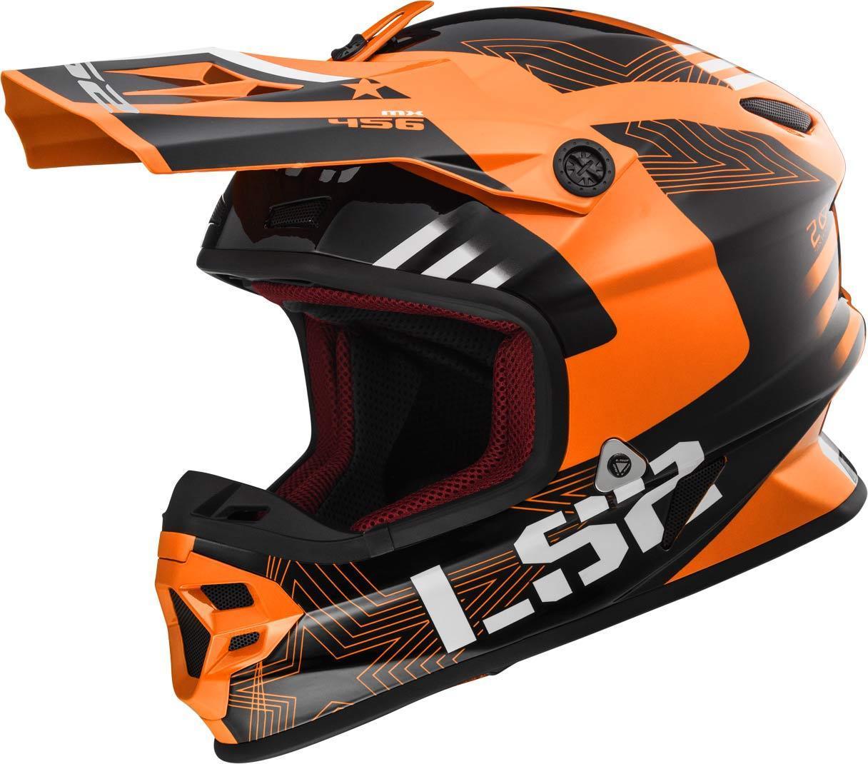 LS2 MX456 Light Evo Rallie Motocross Helm, orange, Größe S, orange, Größe S