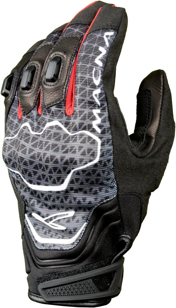 Macna Assault Handschuhe, schwarz-grau-rot, Größe 2XL, schwarz-grau-rot, Größe 2XL