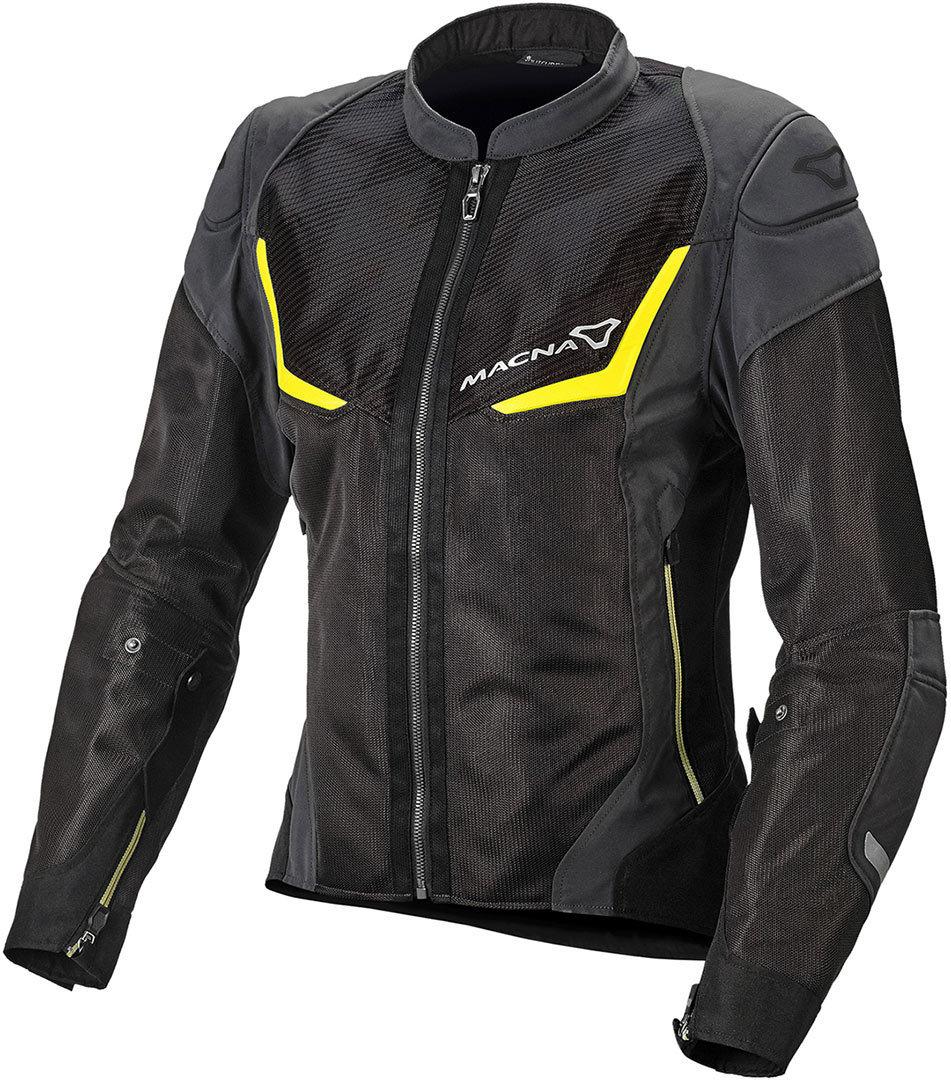 Macna Orcan NightEye Damen Motorrad Textiljacke, schwarz-grau, Größe L, schwarz-grau, Größe L
