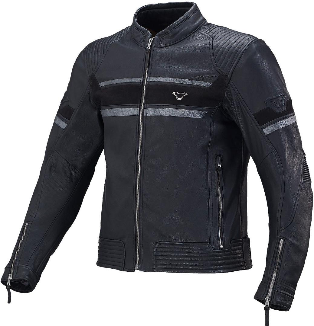 Macna Rendum Motorrad Lederjacke, schwarz, Größe 48, schwarz, Größe 48