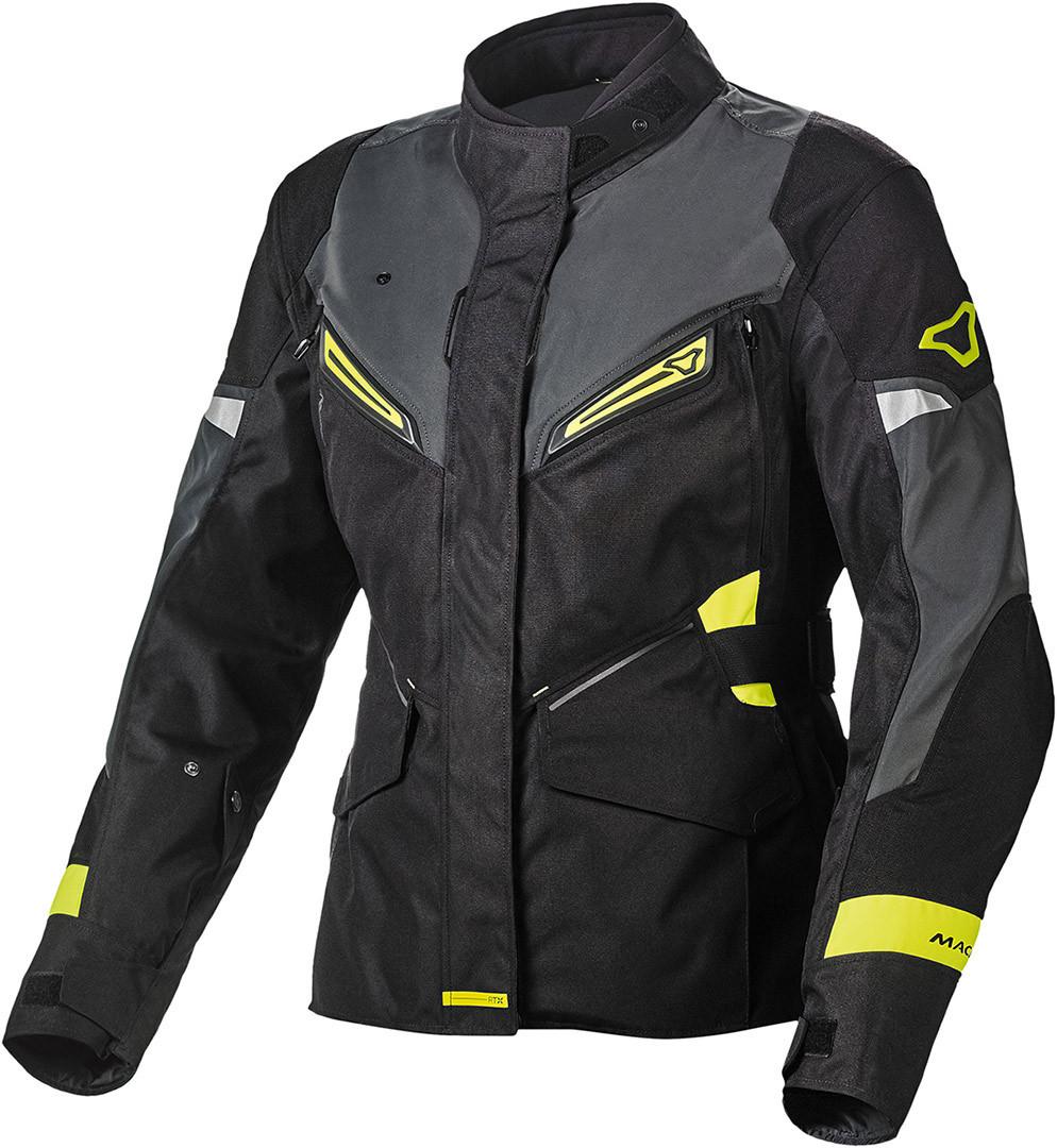 Macna Sonar NightEye Damen Motorrad Textiljacke, schwarz, Größe S, schwarz, Größe S