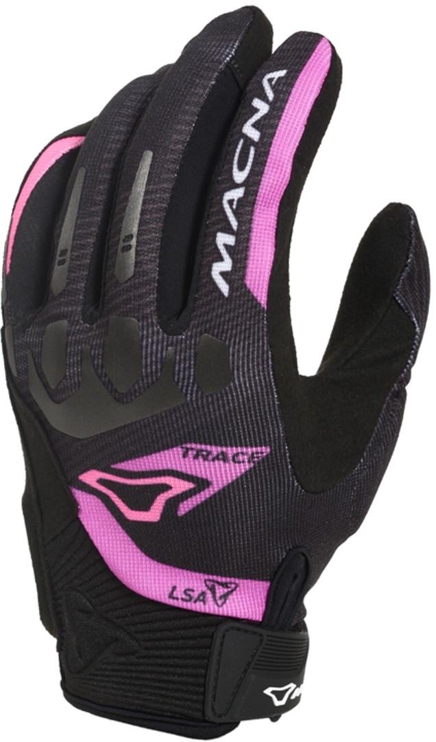 Macna Trace Damen Motorradhandschuhe, schwarz-pink, Größe M, schwarz-pink, Größe M