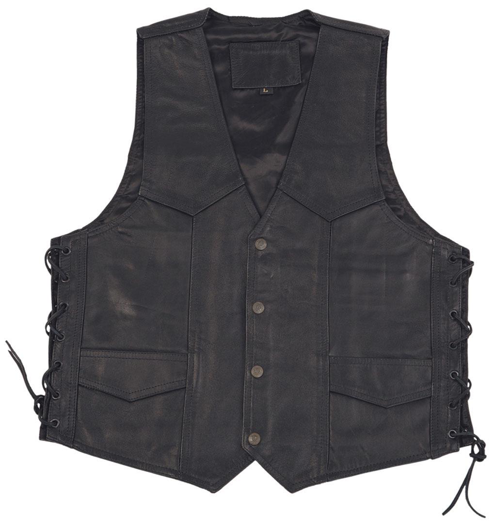 Modeka 1653 Lederweste, schwarz, Größe L, schwarz, Größe L