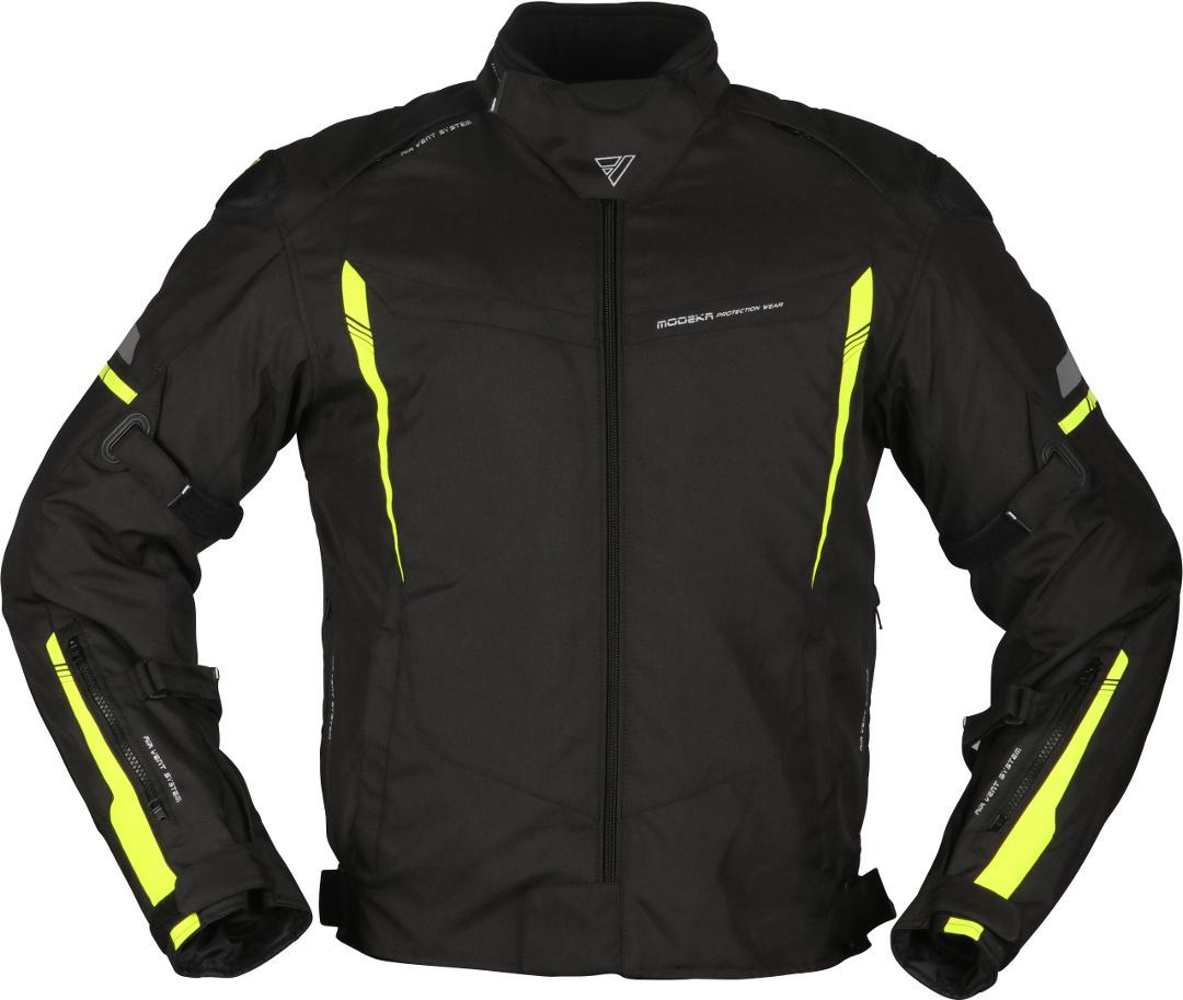 Modeka Aenergy Motorrad Textiljacke, schwarz-gelb, Größe XS, schwarz-gelb, Größe XS