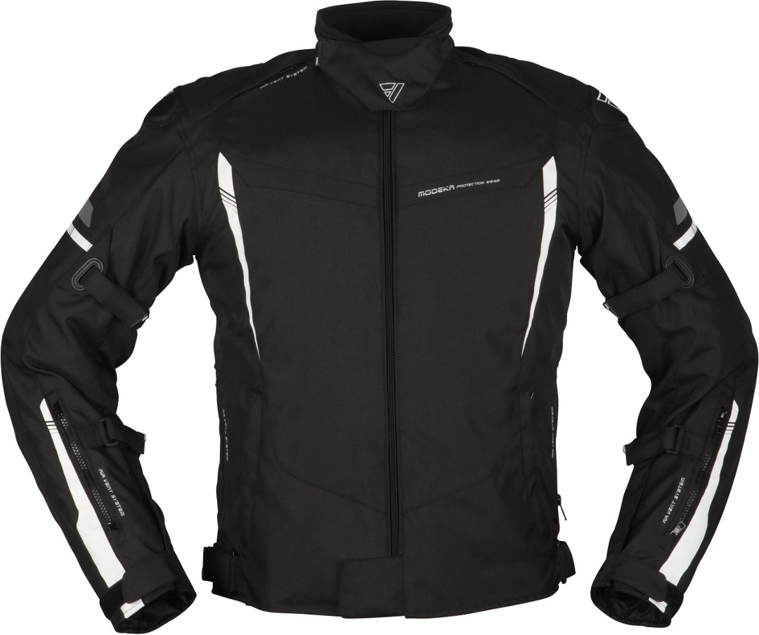 Modeka Aenergy Motorrad Textiljacke, schwarz-weiss, Größe XL, schwarz-weiss, Größe XL