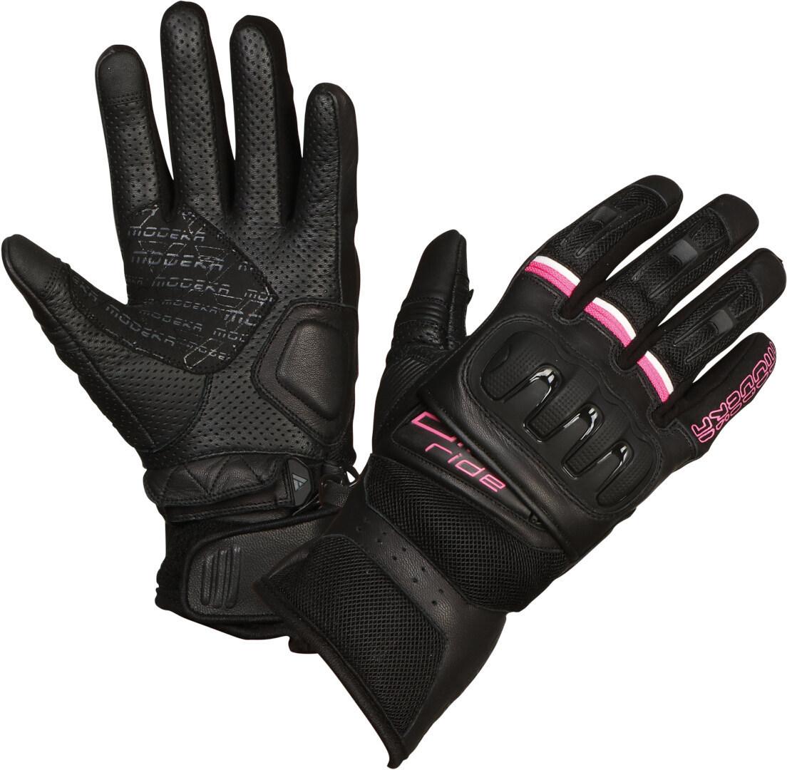 Modeka Air Ride Damen Motorradhandschuhe, schwarz-pink, Größe S, schwarz-pink, Größe S