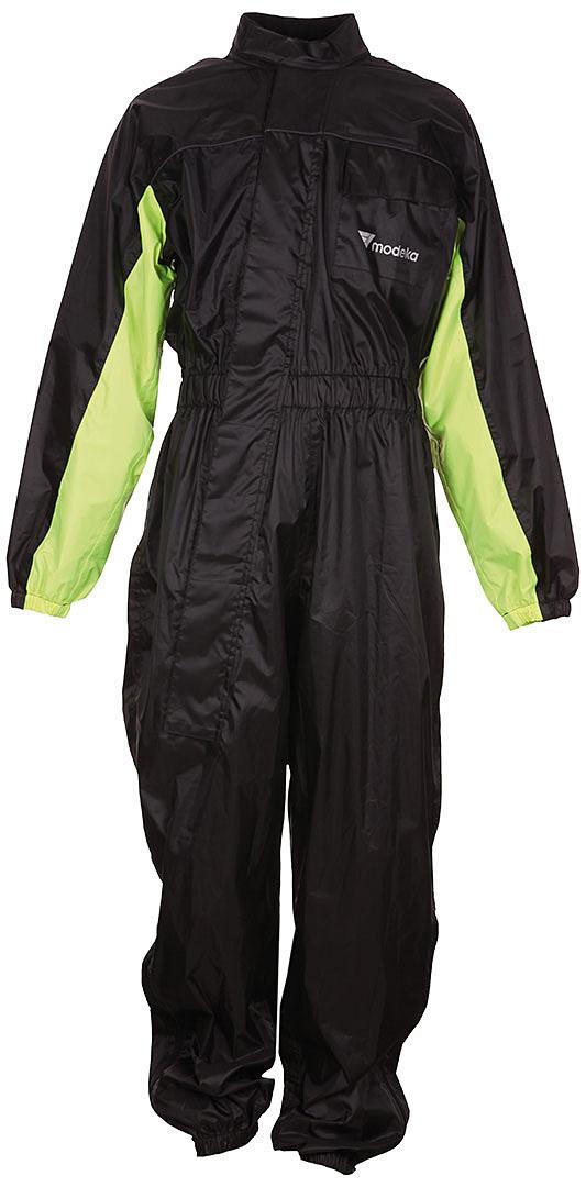 Modeka Black Rain Regenkombi 1 Teiler, schwarz-gelb, Größe 2XL, schwarz-gelb, Größe 2XL