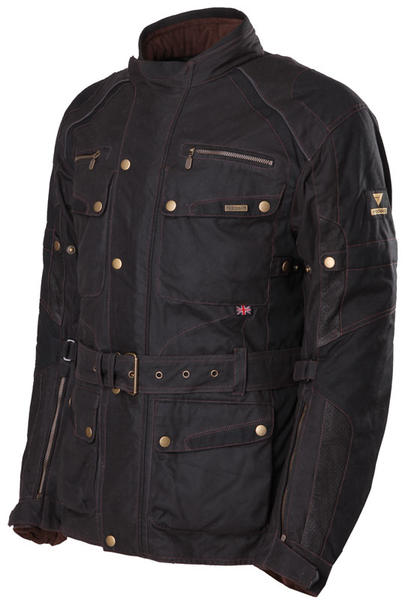 Modeka Glasgow Wachsjacke, schwarz, Größe XS, schwarz, Größe XS