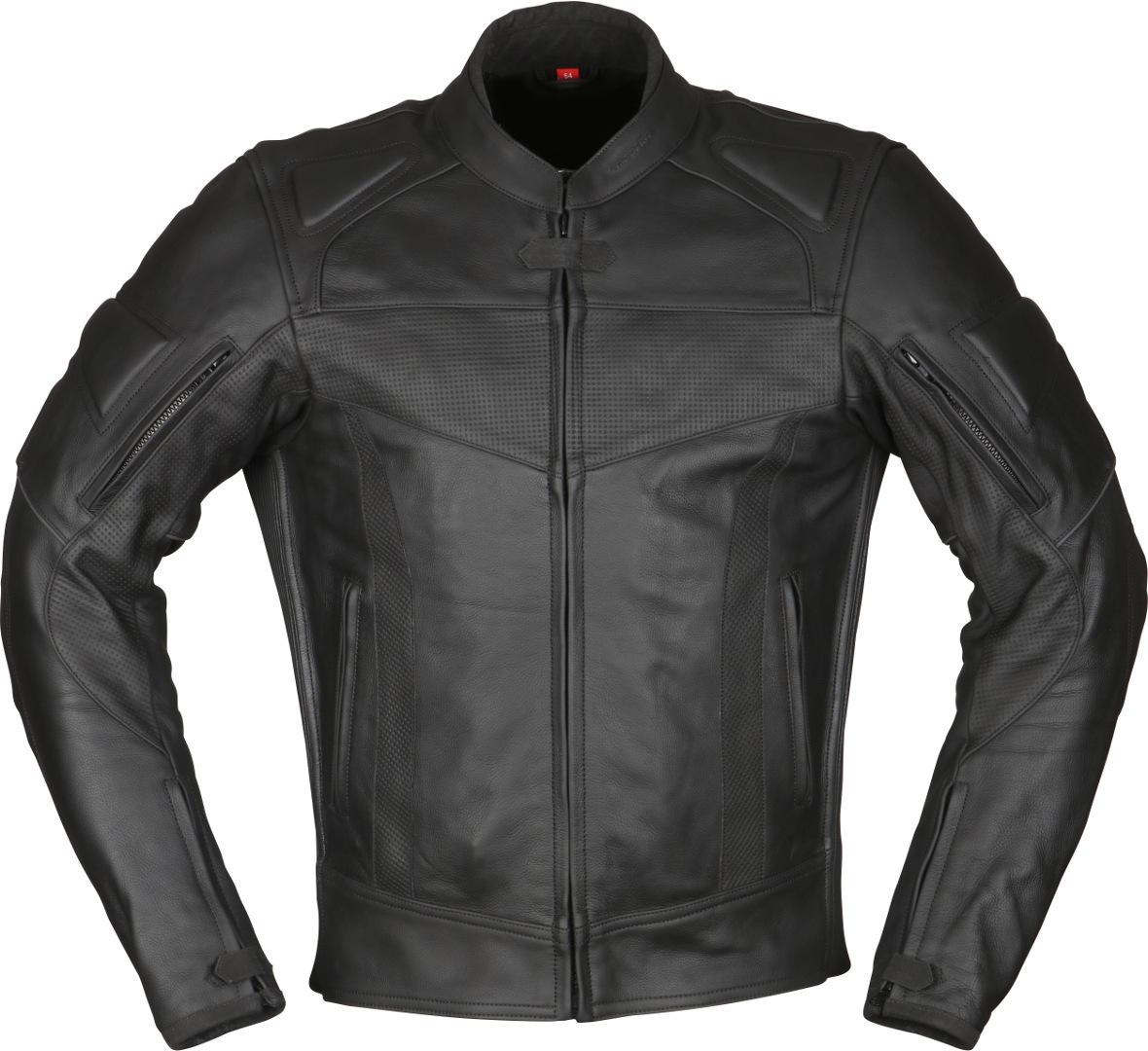 Modeka Hawking II Motorrad Lederjacke, schwarz, Größe 62, schwarz, Größe 62