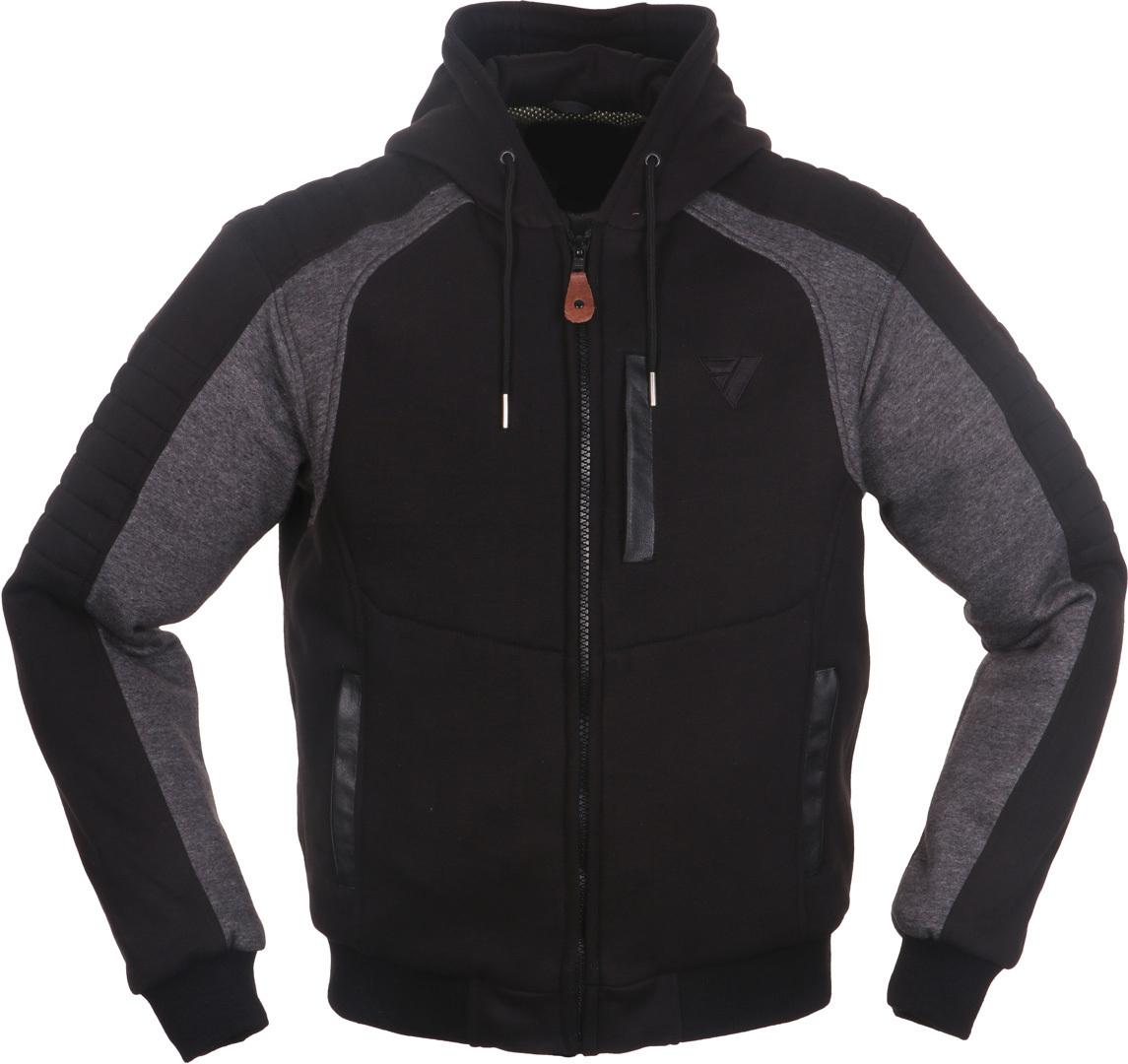 Modeka Hootch Motorrad Textiljacke, schwarz-grau, Größe 2XL, schwarz-grau, Größe 2XL