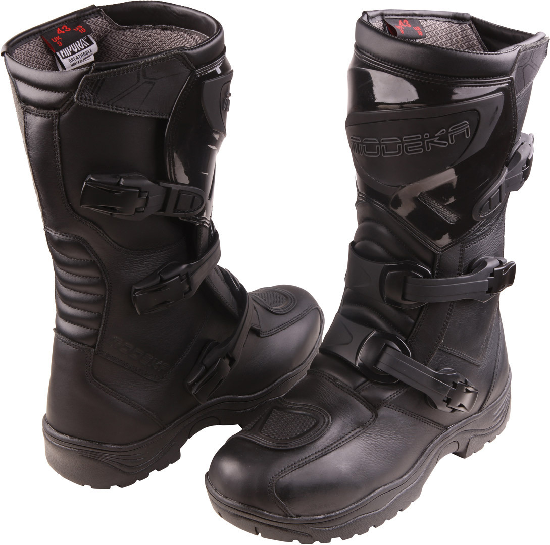 Modeka Ikarus Motocross Stiefel, schwarz, Größe 43, schwarz, Größe 43