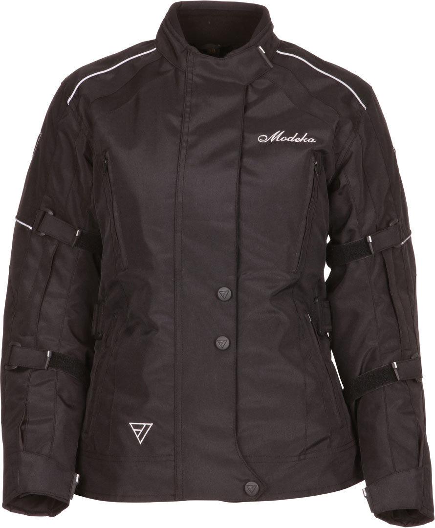 Modeka Janika Damen Motorradjacke, schwarz, Größe 32, schwarz, Größe 32