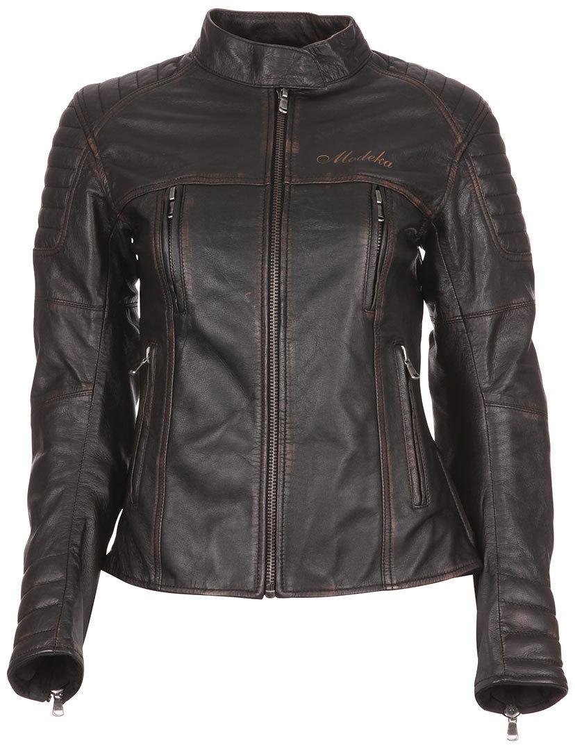 Modeka Kalea Damen Lederjacke, schwarz, Größe 40, schwarz, Größe 40