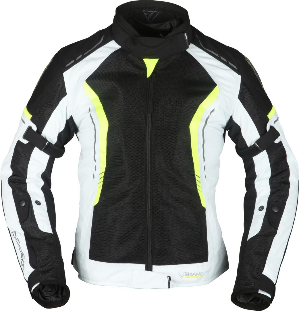 Modeka Khao Air Damen Motorrad Textiljacke, schwarz-grau-gelb, Größe 46, schwarz-grau-gelb, Größe 46