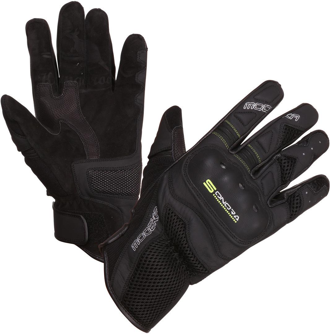 Modeka Sonora Handschuhe, schwarz-gelb, Größe L, schwarz-gelb, Größe L