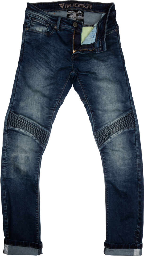 Modeka Sorelle Damen Motorrad Textilhose, blau, Größe 46, blau, Größe 46