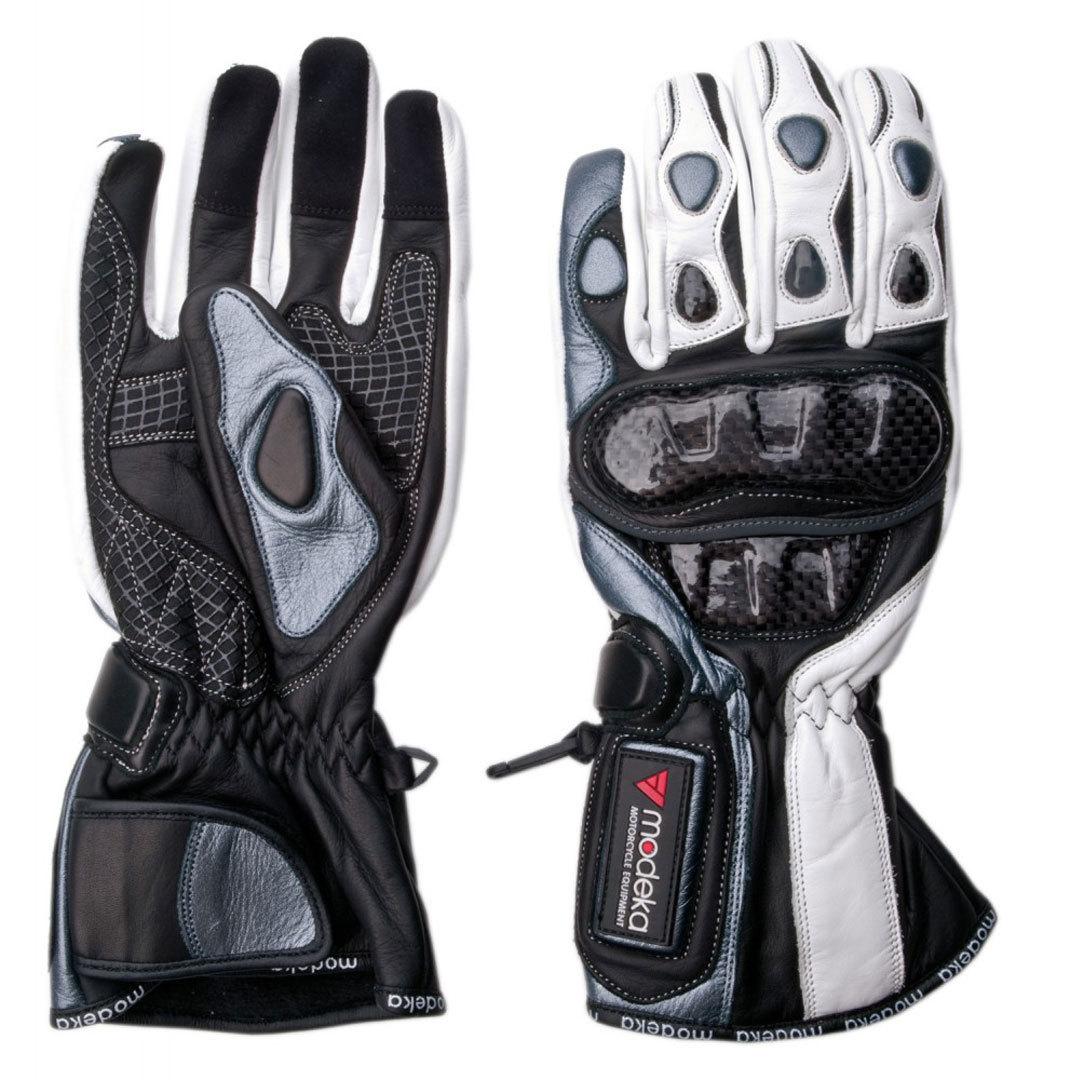 Modeka Sportie Handschuhe, schwarz-weiss, Größe 3XL, schwarz-weiss, Größe 3XL