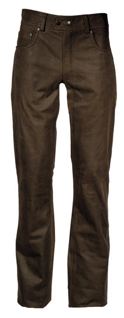 Modeka Stemp Lederhose, braun, Größe 36, braun, Größe 36