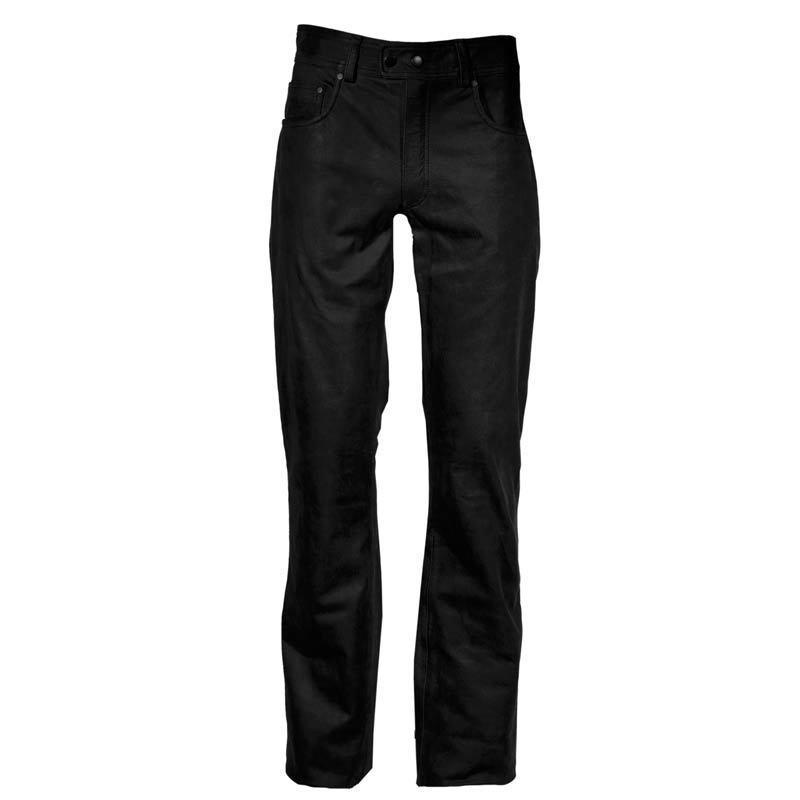 Modeka Stemp Lederhose, schwarz, Größe 48, schwarz, Größe 48