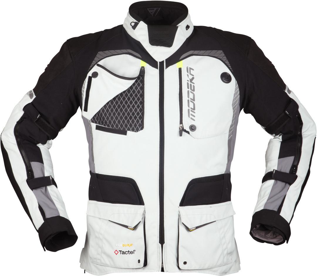 Modeka Tacoma III Motorrad Textiljacke, schwarz-grau, Größe 3XL, schwarz-grau, Größe 3XL