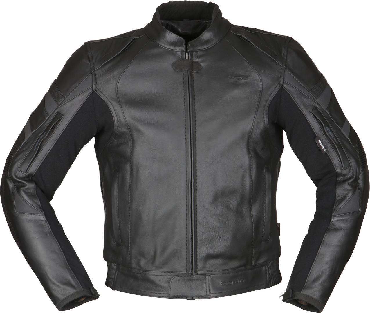 Modeka Tourrider II Motorrad Lederjacke, schwarz, Größe 56, schwarz, Größe 56