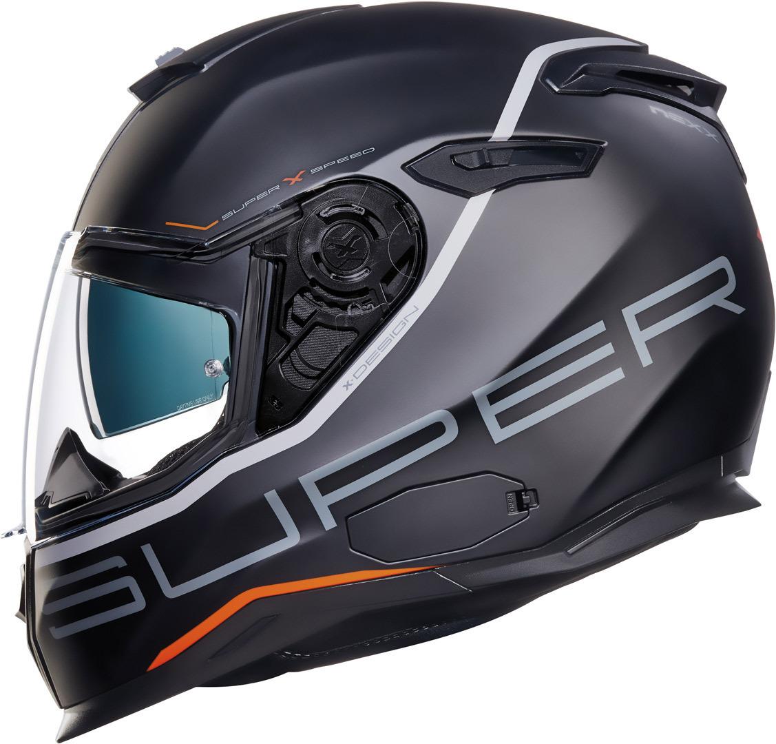 Nexx SX.100 Superspeed Helm, schwarz, Größe S, schwarz, Größe S