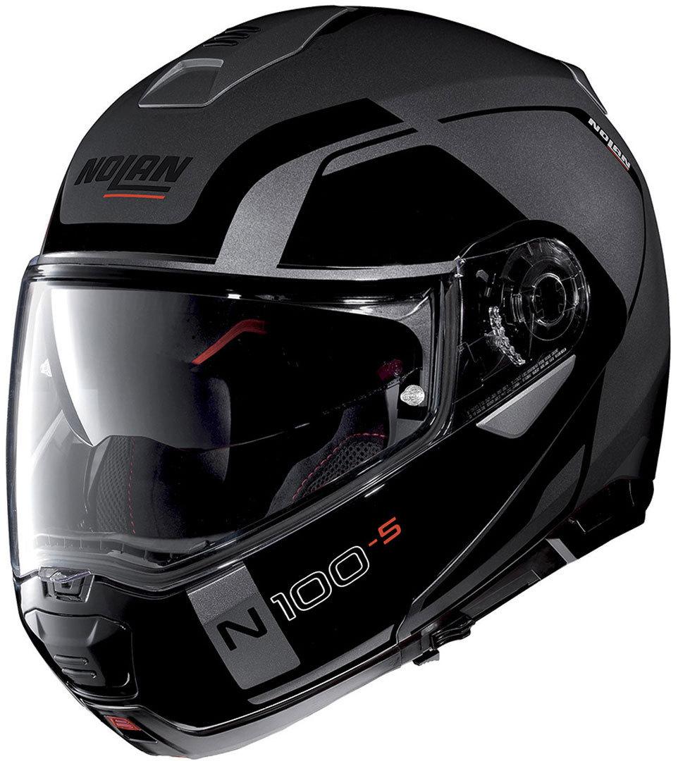 Nolan N100-5 Consistency N-Com Klapphelm, schwarz-grau, Größe XS, schwarz-grau, Größe XS