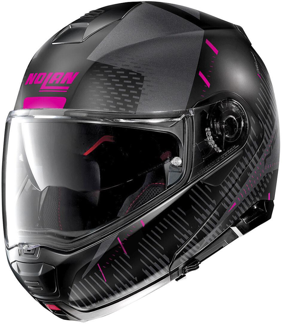 Nolan N100-5 Lightspeed N-Com Klapphelm, schwarz-pink, Größe S, schwarz-pink, Größe S